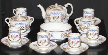 Tea set for 6 persons. The factory of the Kornilov brothers