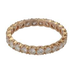 Eternity ring, with 24 brilliant-cut diamonds, together approx. of 1.68 ct, LGW-GW (J-K)/SI,