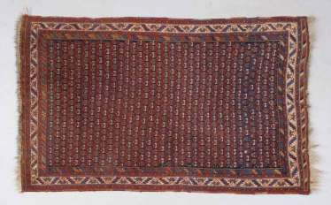 Small rug with Boteh pattern.