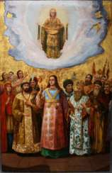 Of the Holy virgin with the Hetman of Ukraine