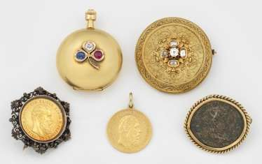 Collection of late Biedermeier jewelry