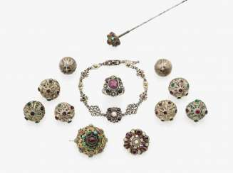 Collection of costume jewelry, Austria and southern Germany, 19th century