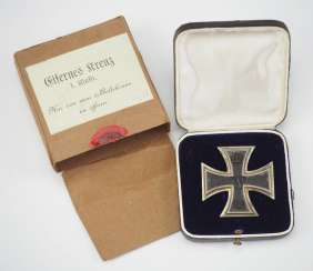 Prussia : Iron Cross, 1914, 1. Class, in a case, with Outer box FR.