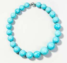 Turquoise Ball Chain Necklace