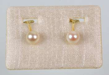 14-Karat Akoya pearl earrings