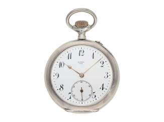 Pocket watch: early IWC man's pocket watch in the rare quality