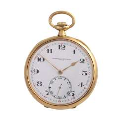 VACHERON & CONSTANTIN pocket watch, CA. early 20's. Century, Lepine case Gold 18K.