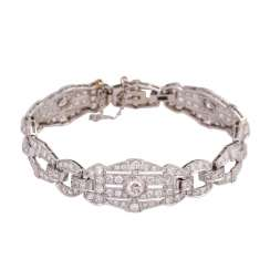Art Deco bracelet set with approx 200 diamonds, together approx. 5.3 ct