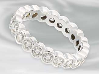 Ring: high-quality, white Golden eternity ring with brilliant-cut diamonds, approx. 3ct