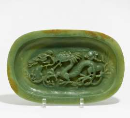 Plate with dragon and carp, and the horse in the shafts