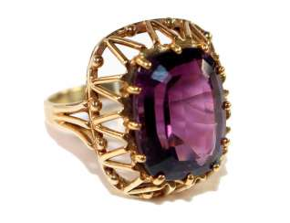 Amethyst ring 585 yellow gold
