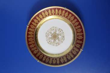 Plate, Imperial porcelain factory, 1855-1881 (Alexander II)