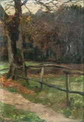 Gate at the autumn forest. Thomas Herbst