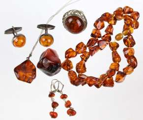 Mixed Lot Of Amber Jewelry