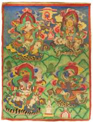 Thangkas with four sky gods