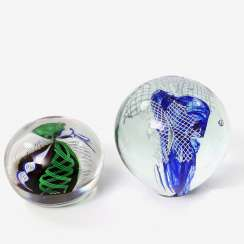 Pair Of Paperweight (Paperweights), 20. Century