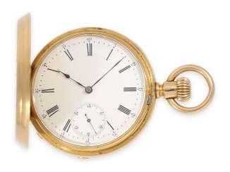 Pocket watch: early Patek Philippe, gold savonnette, Anchor chronometer No. 45207, CA. 1870