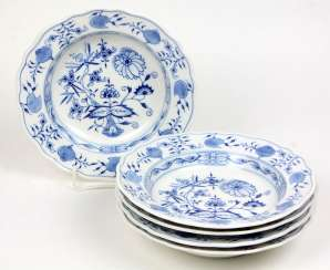 5 Soup Plate *Meissen Onion Pattern*