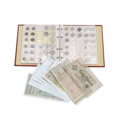 Dt. Empire, silver coins and various banknotes