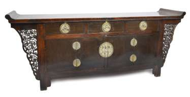 LARGE CHEST OF DRAWERS, CHINA, LATE