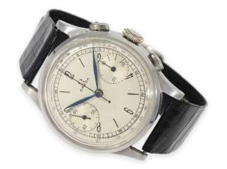 Watch: the early days, great Omega quartz Chronograph oval shaped pushers, calibre 33.3 CHRO T3, CA. 1941