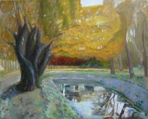 Autumn pond on