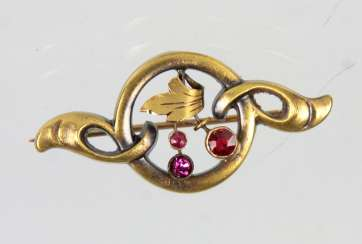 Art Nouveau Brooch - Yellow Gold 585
