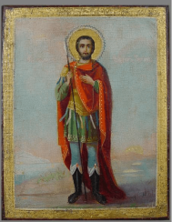 The Icon Of St. Fedor Stratilat the end of the XIX-th century