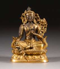 SMALL GREEN TARA FIGURINE Tibet