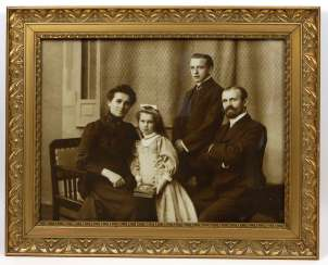 Art Nouveau frame with family photo