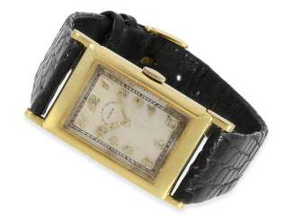 Wrist watch: great and rare Art Deco gents watch with Breguet dial and hinged lugs, Vacheron & Constantin Geneve CA. 1926