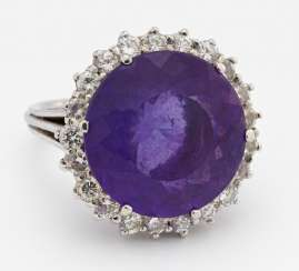 Diamant-Amethyst-Ring