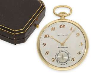 Pocket watch: exquisite Patek Philippe Frackuhr in the very rare chronometer quality