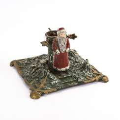 Christmas tree stand with Santa Claus