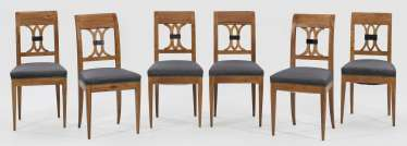 Set of six chairs in the Biedermeier style