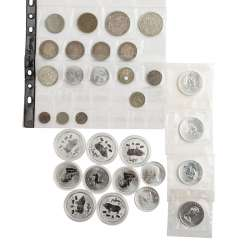 Mixed lot of silver coins and more -