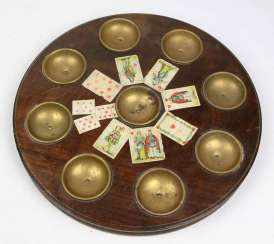Game cards, coin Board, C. 1900