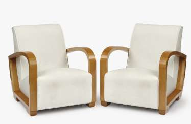 A pair of Art Deco armchairs, 1930s