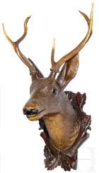 The deer's head for a straight six, founder, South Germany/Austria, 19. Century