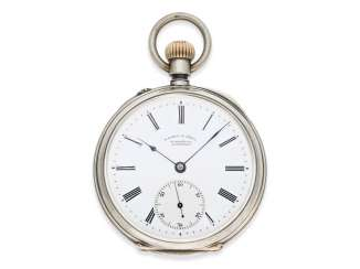 Pocket watch: early, very beautifully preserved, A. Lange & Söhne men's watch with rare signature of the