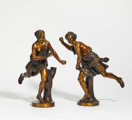Pair of ball players or allegories