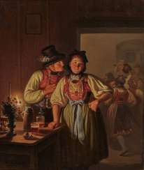 Carl Friedrich Moritz Müller, called Feuermüller - Dachau couple in the room