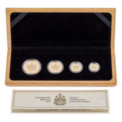 Canada/GOLD - Set Maple Leaf 1989, consisting of