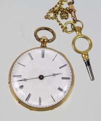 Key Pocket Watch - Yellow Gold 585
