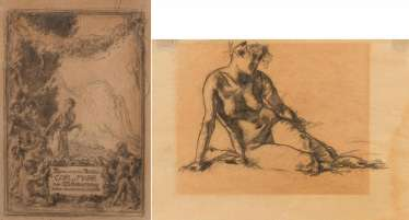 Munich school, a collection of two drawings