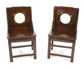 Pair Of Chairs With Stone Deposits