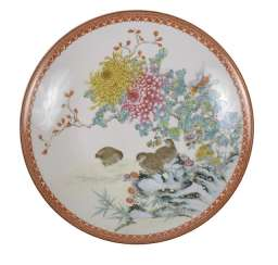 PLATE WITH DECORATION OF QUAILS,