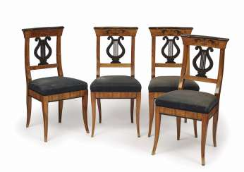 Set of four chairs. South German, 1. Half of the 19th century. Century
