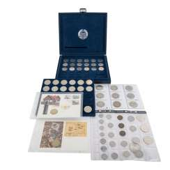 GDR - commemorative coins-collection with, among other things,