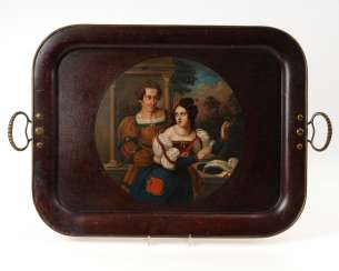 Stockmann in Braunschweig: lacquer tray with a couple in Love.